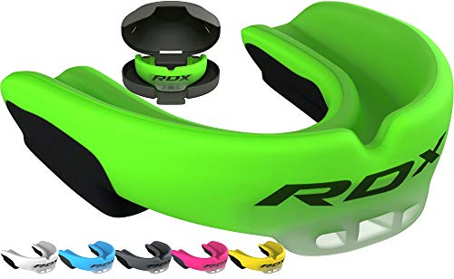 RDX Mouth Guard for Boxing, MMA, Muay Thai Training, Gum Shield for Karate, Kickboxing, Lacrosse, Hockey, Football, Rugby, Martial Arts, Wrestling, Roller Derby and Other Contact Sports Mouthpiece