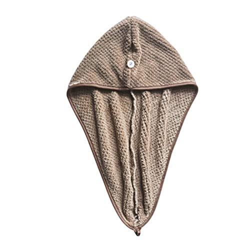 YSJJOSX Gorro de microfibra de secado rápido para el cabello de secado rápido, gorro seco para mujeres y niñas, sombrero turbante para accesorios de baño del hogar (color: A)