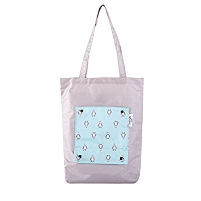 WonderSky Foldable Reusable Shopping Bag Waterproof Nylon Tote