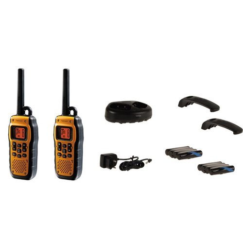 Topcom RC-6420 Protalker PT-1078 Walkie Talkie, Nero/Giallo