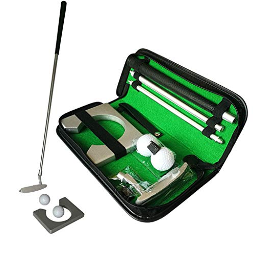 Read About IXnzadn Portable Golf Putter Putting Gift Set Kit with Putter, 2pcs Balls, Putting Cup fo...