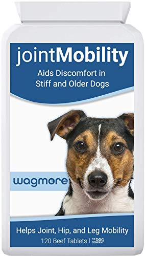 wagmore Dog Joint Care Supplement | Glucosamine, Turmeric and Boswellia | Reduces Discomfort in Stiff & Older Dogs | Aids Joint, Hip & Leg Mobility | Made in UK | 120 Tablets