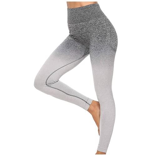 QTJY Pantalones de Yoga Push-up para Mujer, Pantalones Deportivos de Cintura Alta para Levantar la Cadera, Pantalones de Yoga, Ejercicios de Fitness, Leggings Deportivos para Celulitis B L
