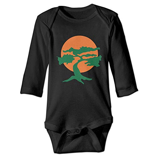 SLADDD1 Japanese Bonsai Tree Baby Onesies Casual Long Sleeve Baby Body Suits for Baby Girls Boys Black