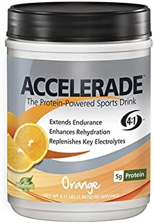 PacificHealth Accelerade, All Natural Sport Hydration Drink Mix with Protein, Carbs, and Electrolytes for Superior Energy ...