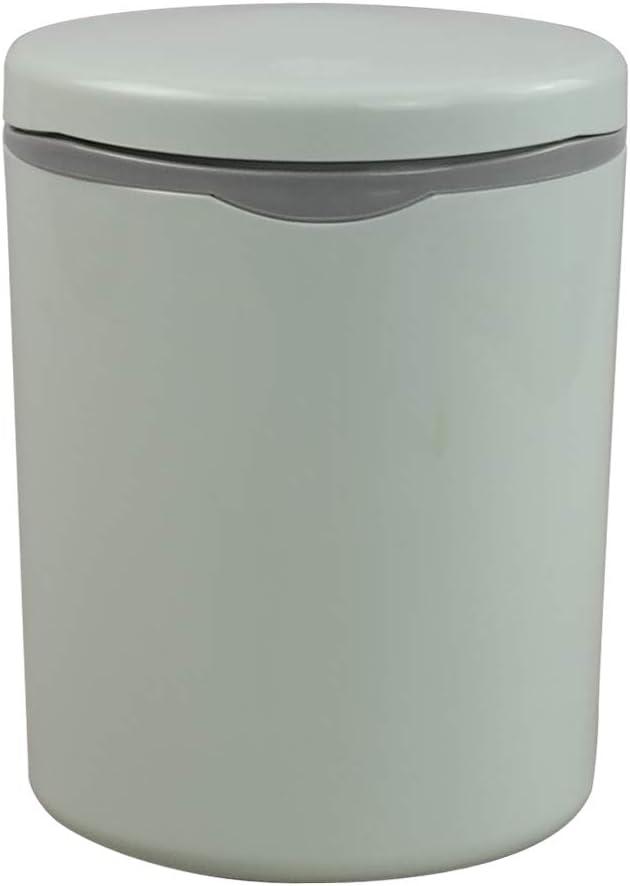 Nesmilers 2 Liter Tiny Trash Can, Mini Wastebaskets with Push-Bu