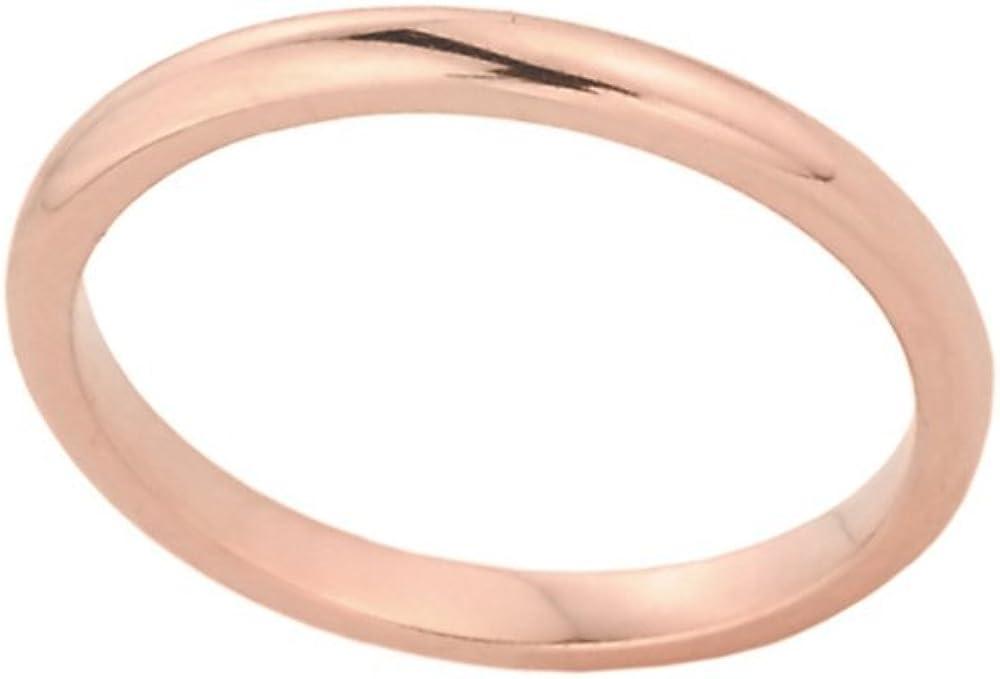 Stacking Fine 14k Rose Gold Sizable Plain Toe Ring