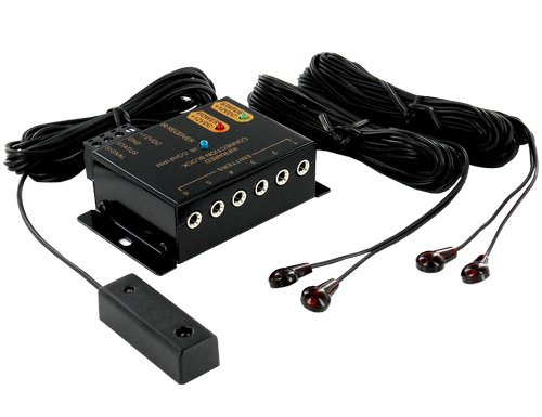 Remote Control IR Repeater Extender Universal to Control Your Audio and Video Products Hidden in a Cabinet, in Another Room or Out of Sight. Included IR Blaster/IR emitter and IR Sensor