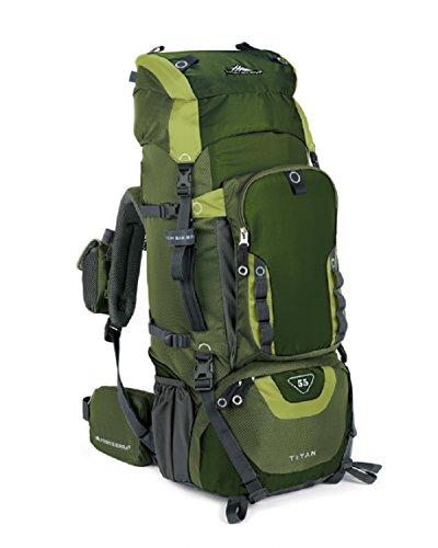 High Sierra Titan 55 Frame Pack Amazon/Pine/Leaf