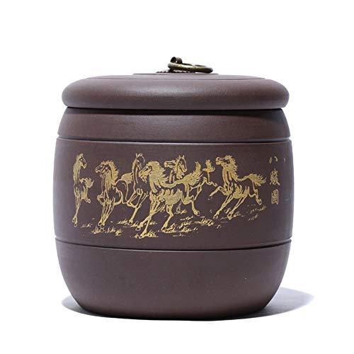 TongN Sugar Bowls Purple Sand Tea Pot Tea Storage Tank Portable Tea Pot About 5 Two (Color : B)
