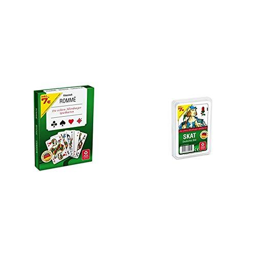 ASS Altenburger 22570071 - Kartenspiel Rommé in Stülpdeckelschachtel & Altenburger 22570205 - Skat - Deutsches Bild Kornblume, Kartenspiel
