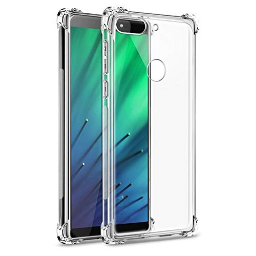 Sbuybay Soft Lightweight Flexi Bumper Tpu Back Cover For Htc Desire 12 Plus - Transparent
