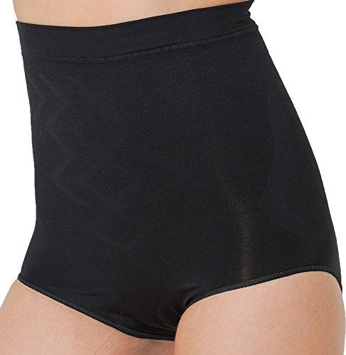 UnsichtBra Damen stark Figurformender Bauchweg Miederslip, Shape Unterhose ohne Bein in schwarz weiß beige (sw_0300)(XL (48-54),Schwarz)