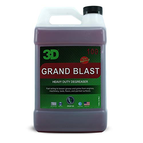 3D Grand Blast - Heavy Duty Industrial Degreaser & Cleaner - Removes Tough Grease & Oil from Engines, Wheels, Floors & More - Safe Natural Formula - 1 Gallon