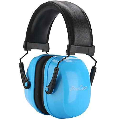 ProCase Kids Ear Protection Safety Ear Muffs, NRR 25dB Noise Reduction Hearing Protection Earmuffs for Concerts Fireworks Shooting Toddler Children Teen Kid -Blue