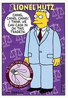 Attorney Lionel Hutz trading card (The Simpsons) 1994 Skybox #S31