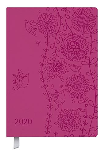 Timer Soft Touch pink 2020: Terminplaner in Lederoptik. Terminkalender mit Wochenübersicht und Lesezeichenband. Taschenkalender im Format: 11 x 16 cm