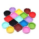 WHBGKJ Cenicero doméstico 1 unids Silicona cenicero Cuadrado/Redondo cenicero Colorido Silicona Caucho cenicero Accesorios para Fumar Color Aleatorio (Color : Round)
