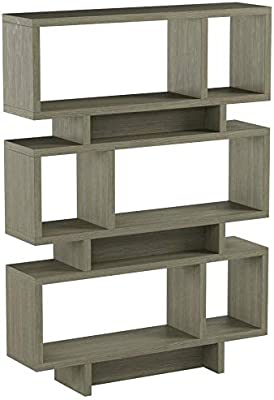 Coaster Home Furnishings Coaster Contemporary Weathered Grey Open Bookcase