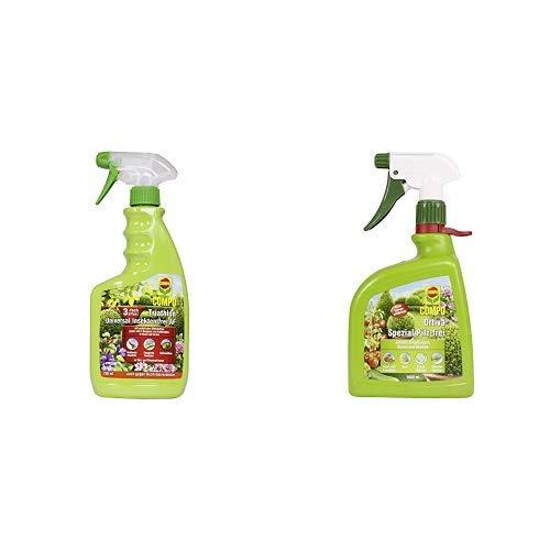 COMPO Triathlon Universal Insekten-frei AF, Bekämpfung von Schädlingen an Zier- und Zimmerpflanzen, 750 ml & Ortiva Spezial Pilz-frei AF, Bekämpfung von Pilzkrankheiten an Zierpflanzen, 1 Liter