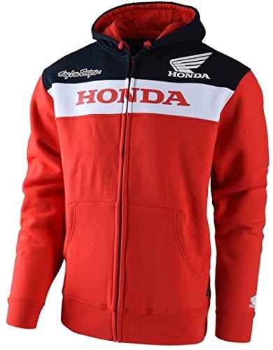 Sweat Zippé À Capuche Troy Lee Designs Honda Honda Wing Rouge (L , Rouge)