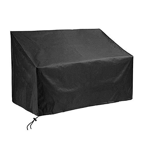 Ruosaren Gartenbankgarnitur Abdeckung Schwarz Zweisitzer Abdeckung Outdoor Terrasse Rattan Gartenmöbel Set Abdeckungen