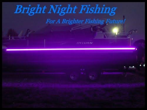 16ft LED Black Light Night Fishing LED Strip UV Ultraviolet Fluorescent Boat bass Fishing 12v dc Priority Shipping Pontoon Kayak John Boat Fluorescent line Glow