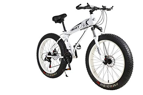 Ibiky Liberator Fat Tire Mountain Bike, 26-Inch Wheels, Multiple Colors 4.0 inch Fat Tire Snow Bike with...