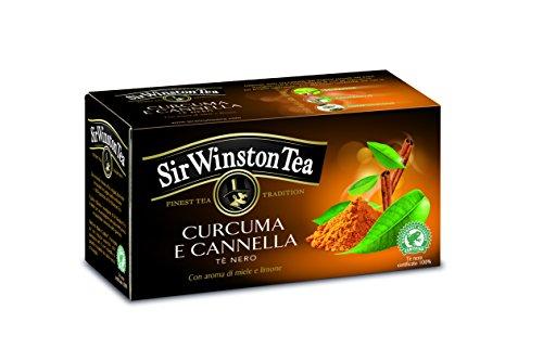 Sir Winston Tea Tè Nero Curcuma Cannella - 3 confezioni da 20 filtri [tot. 60 filtri]