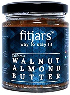 FITJARS California Walnut and Almond Butter(Badam), 200 Gm Stone Ground