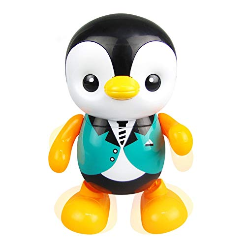 xinyawl Peluche Colorido Baile Pingüino Forma Eléctrica Hogar Niños Regalo Luz Led Musical Juguete Plástico Portátil Lindo Canto Juguetes