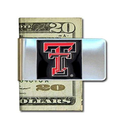 NCAA Siskiyou Sports Mens Texas Tech Red Raiders Steel Money Clip One Size Team Color