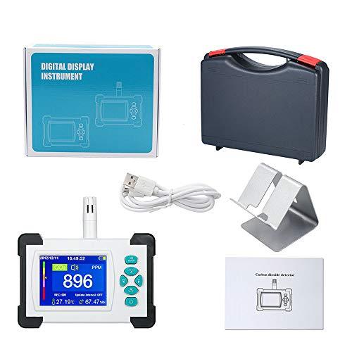 Siebwin CO2 Messgerät, Kohlendioxid Detektor Tragbares CO2 Melder für Kohlendioxid Luftqualitäts Detektor Monitor CO2-Meter-Monitor mit Aufbewahrungskoffer und Handbuch (Upgrade Version)