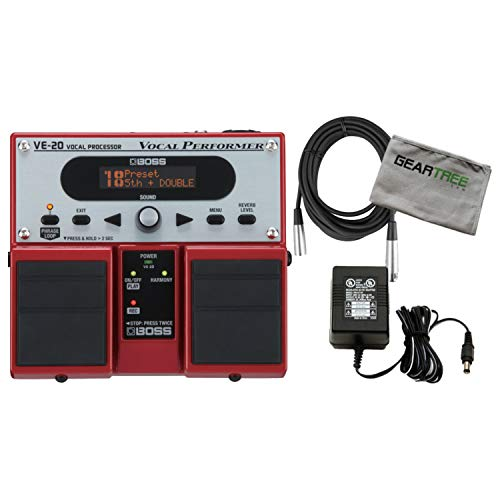 Boss VE-20 Vocal Performer Vocal Processor Pedal w/Power Supply, XLR Cable, and