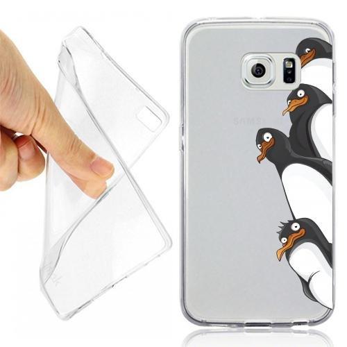 Custodia Cover Case Pinguini CURIOSI per Samsung Galaxy S7 Opaco