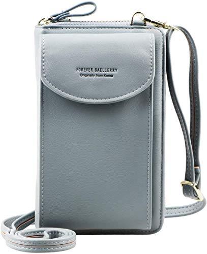 Monedero de mujer con diseño de hoja exquis colgante de piel sintética, 6 ranuras para tarjetas, incluye 1 ventana de identificación, 1 sección de factura y 1 bolsillo con cremallera.