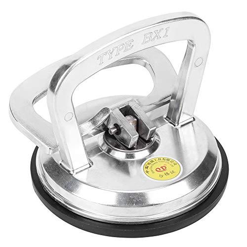 50KG Superstarker Saugnapf aus Glas, Handgehaltener Vakuum-Plattenheber-Abzieher Einzelklauen Antistatisch für Keramikfliesen Mit Glasboden