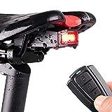 Keyohome Fanale Posteriore Allarme Luce Posteriore Bici USB con Telecomando Senza Fili Fanale Posteriore per Bicicletta Ricaricabile Impermeabile