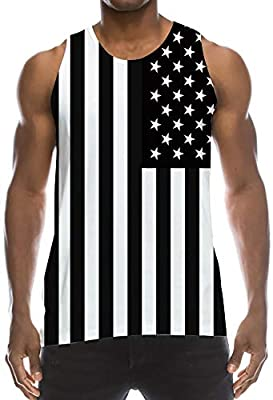 TUONROAD Mens 3D Graphic Printed Tank Top Cool Muscle Sleeveless Tees Gym Workout Shirt