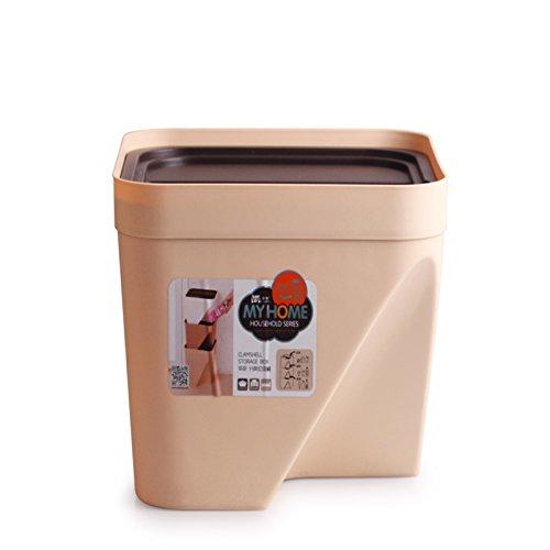 Catégorie de cuisine Barillet d'ordures Ménage Barillet de rangement carré ( Couleur : Kaki , taille : 16L )