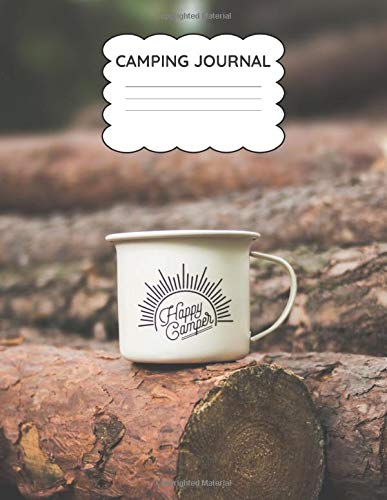Camping Journal Log Book: For Adults & Kids | RV Travel Log book | Camping Notebook To Write In | Awesome Gift For Camping Lovers | white Elephant Gift