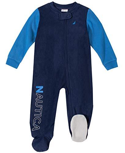 Nautica Baby Boys Blanket Sleeper, Navy/Blue, 12M