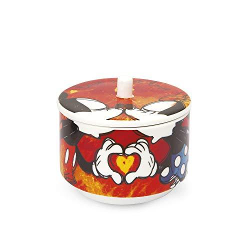 Egan PWM41/S Zuccheriera, Modello Sweet Love, Porcellana, Rossa