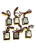 Escapularios La Virgen De Guadalupe - Collar Escapularios Marrón Mujer Hombre - Escapulario con...
