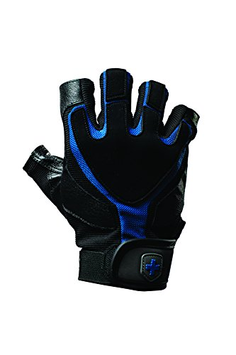 Harbinger Training Grip Non-Wristwrap Weightlifting Gloves with TechGel-Padded Leather Palm (Pair), Large