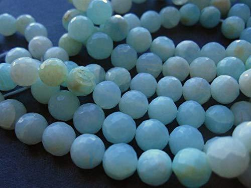 World Wide Gems Cuentas de piedras preciosas azules sombreadas de ópalo peruano redondo facetado - 7 mm 6 1/4 pulgadas código-HIGH-69300