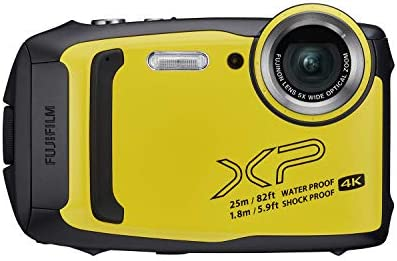 Fujifilm FinePix XP140 Waterproof Digital Camera - Yellow (Renewed)