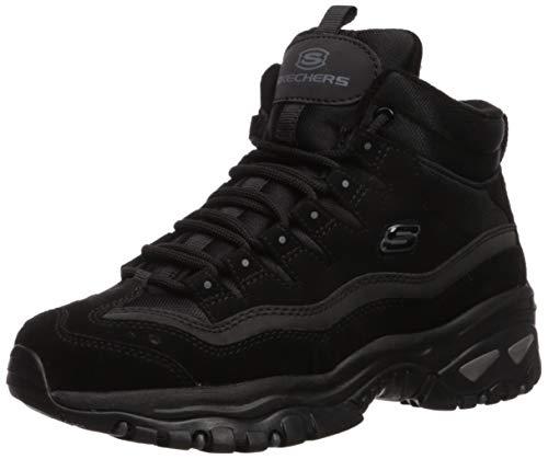 Skechers Women's Energy Ankle Boots, Black (Black Leather/Mesh BBK), 4 (37 EU)