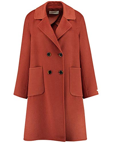 Gerry Weber Womens Mantel Wolle Trenchcoat, Sienna, 34