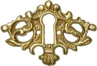 Cast Brass Victorian Style Keyhole Cover for Cabinet Doors, Dresser Drawers, Desk Antique Furniture Hardware   B-0226